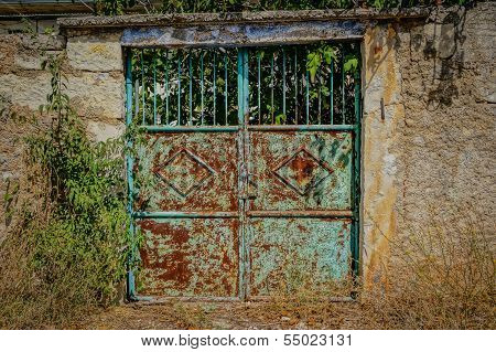 Rusty Garden Gate. Hdr Picture