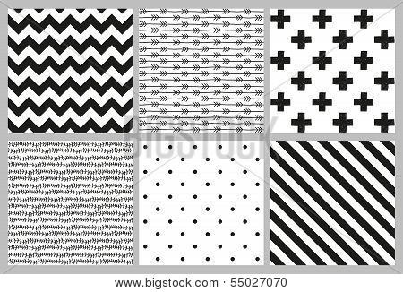 Scandinavian trend seamless patterns