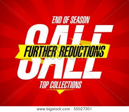 End of season sale, further reductions design template