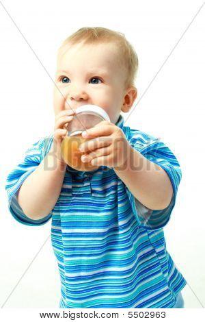 Baby Drinking Juice