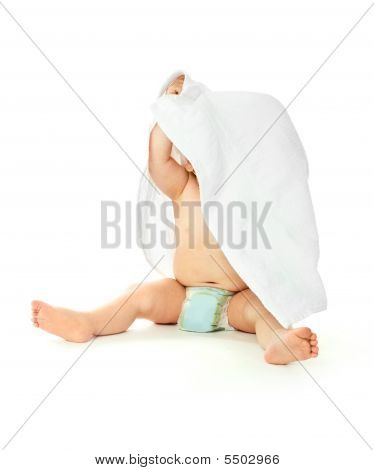 Baby Wrapped Into The Towel