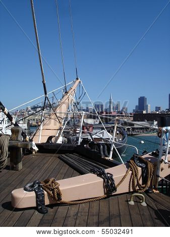 historic ship in San Francisco Harbour