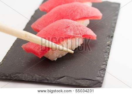 Tuna Sushi Nigiri Isolated
