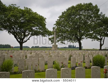 British Cemetery In Flanders