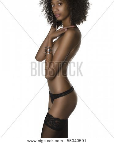 Beautiful African American model