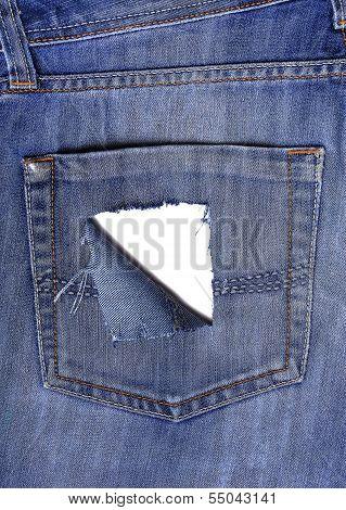 Leaky Back Pocket Of Jeans