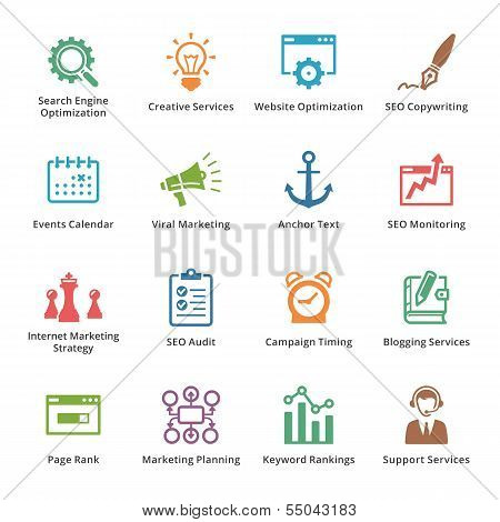 SEO & Internet Marketing Icons - Set 5 | Colored Series