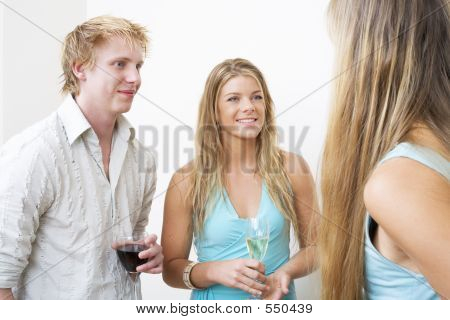 Young Couple Drinking