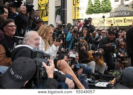 LOS ANGELES - DEC 5:  Thalia with Press at the Thalia Hollywood Walk of Fame Star Ceremony at W Hollywood Hotel on December 5, 2013 in Los Angeles, CA