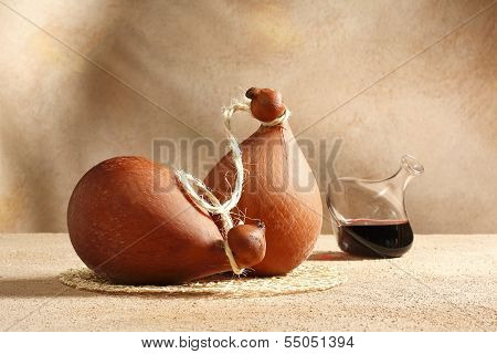 caciocavallo and wine