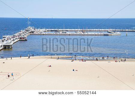 famouse pier (Molo) of Sopot