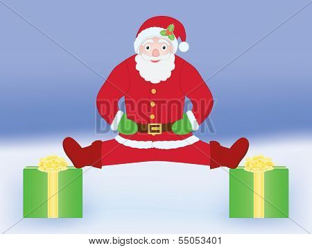 Santa Claus Doing Split