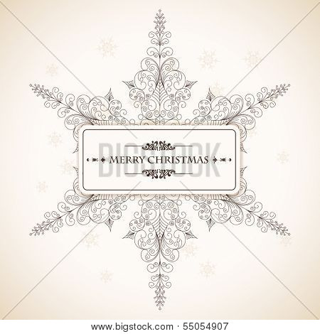 Vector illustration on a Christmas theme