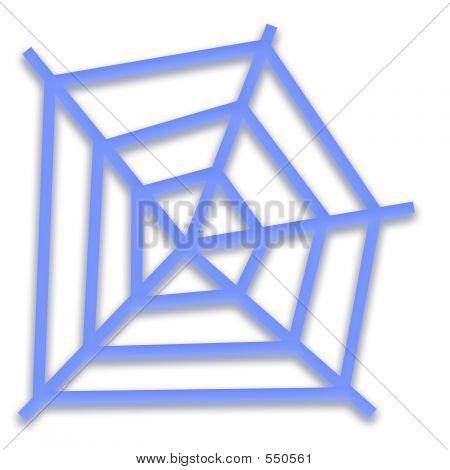 Teia de aranha azul