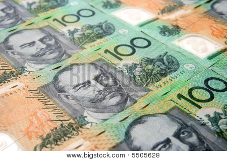 Australian Hundred Dollar Note Close-up.