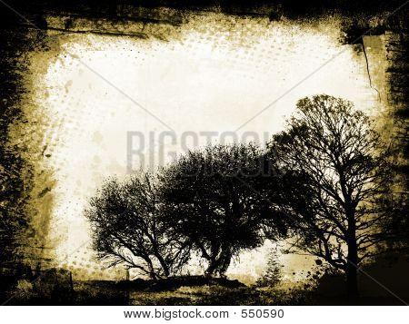 Grunge-Bäume