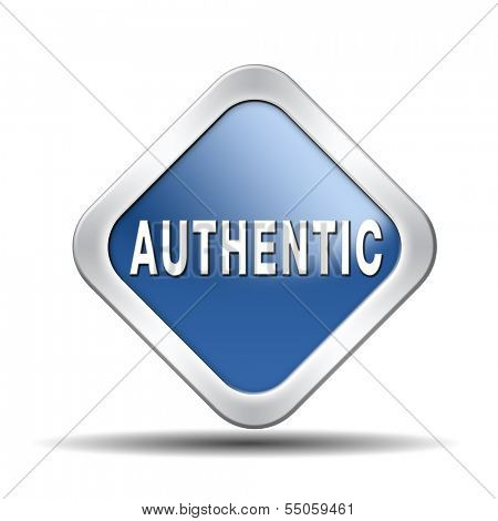 authentic button or icon quality guaranteed label authenticity guarantee assurance label for highest product control