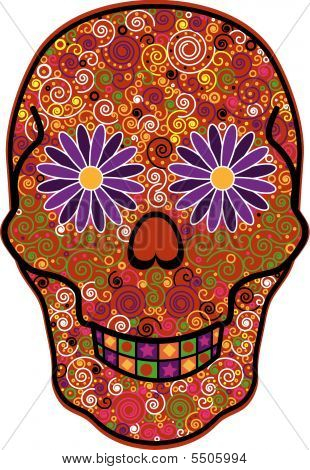 Day Of The Dead Decorated Skull