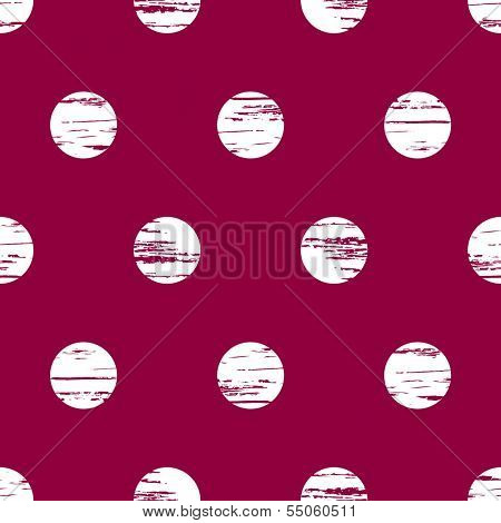 Seamless grunge geometric circle pink and white background
