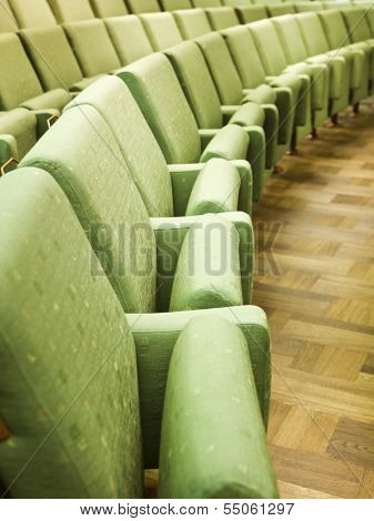 Row of Green Spectators seats