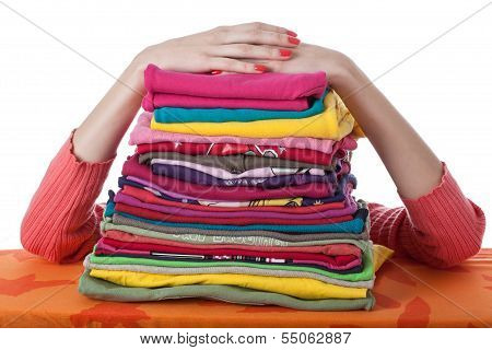 Heap Of Arranged Clothes