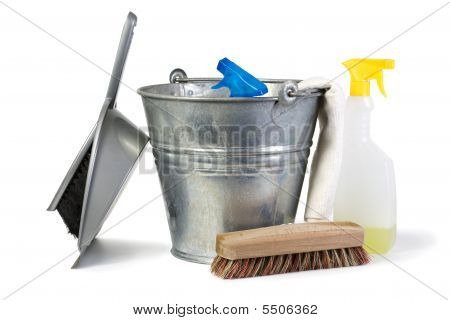 Cleaning Equipment Isolated