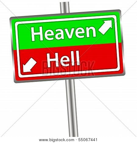 Heaven and Hell sign