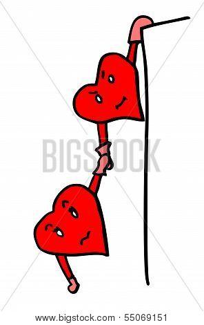 Valentine Hearts In Danger