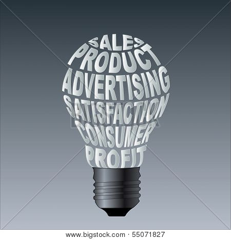 Paper Bulb Of Sales Product Advertising Satisfaction Consume Profit