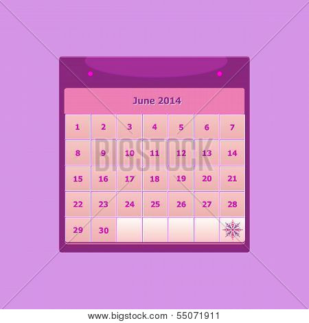 Design Schedule Monthly June 2014 Calendar
