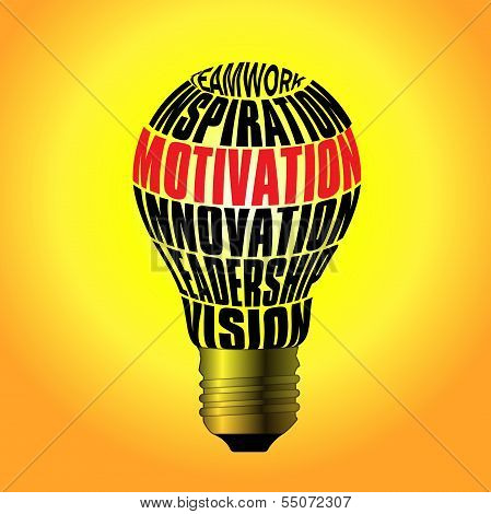 Bulb Of Teamwork, Inspiration, Motivation, Innovation, Leadership, Vision