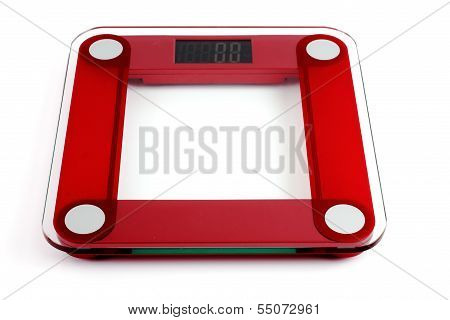 Glass Scales On A White Background