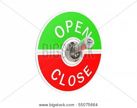 Open close toggle switch