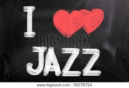 I Love Jazz Concept