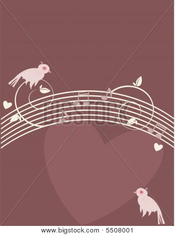 Pink Birds On Purple Background  1