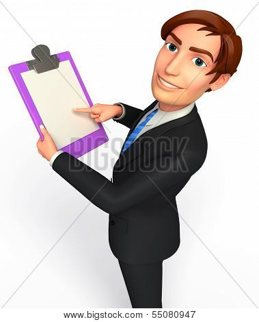 Young Business man with notepad