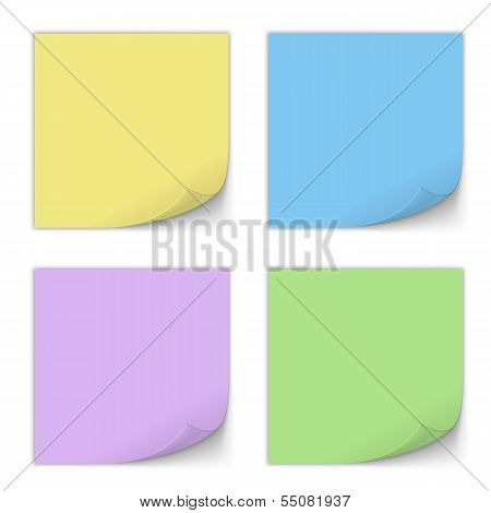 Stick Note Set. Vector