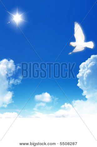 Clouds And A Dove