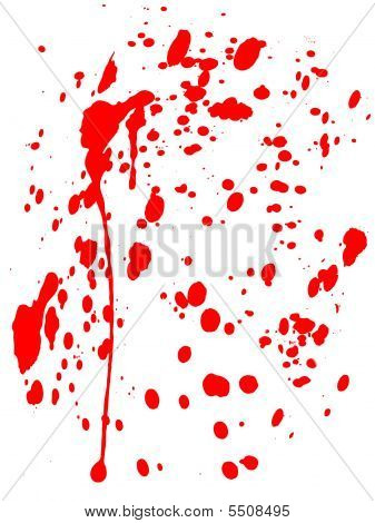 blood splatter black background. Images BLOOD SPLATTERED