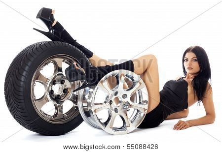 Tire and disk