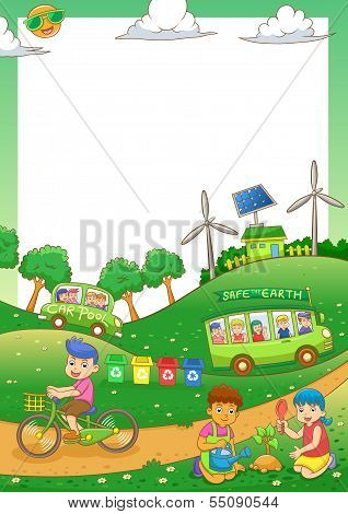 children Save our green world.