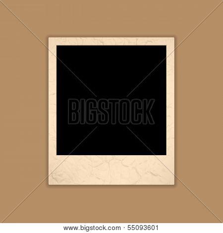 Blank Grunge Photo Frame. Polaroid Style. Vector Illustration
