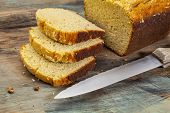stock photo of fresh slice bread  - slices of freshly baked - JPG