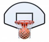 stock photo of basketball  - Basketball kit with backboard - JPG