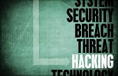 stock photo of taint  - Hacking Computer Security Threat and Protection - JPG