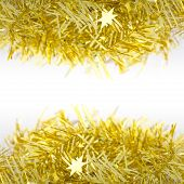 Gold Decoration Over And Under For Christmas And New Year