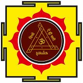 foto of kali  - Sacred protective Hindu Tantrik  Shakti Bisa yantra - JPG