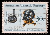 AUSTRALIA - CIRCA 1984: Stamp printed in the Australia, Australian Antarctic Territory shows 75th An