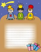 stock photo of melchior  - Letter to the Three Kings - JPG
