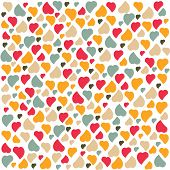Love Heart Background Pattern Valentines day Greeting card trendy colors Romantic relationship conce